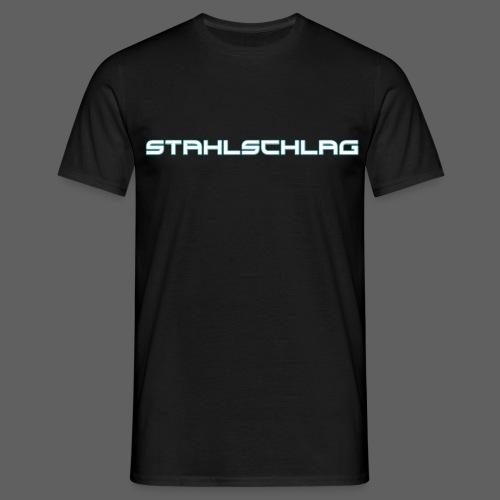 STAHLSCHLAG Text Neon Shadow - Men's T-Shirt