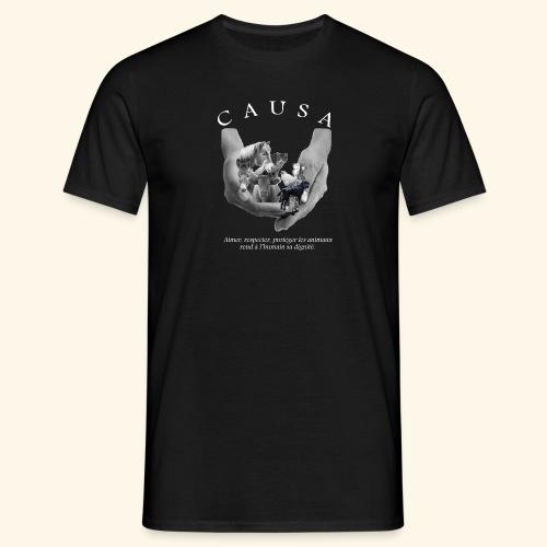 Association CAUSA texte blanc - T-shirt Homme