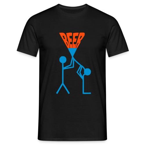 Bier Trichter - Männer T-Shirt