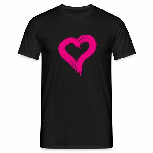 Pink Heart - Men's T-Shirt