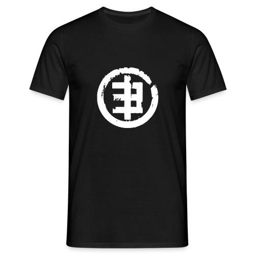 Logo4 weiss - Männer T-Shirt