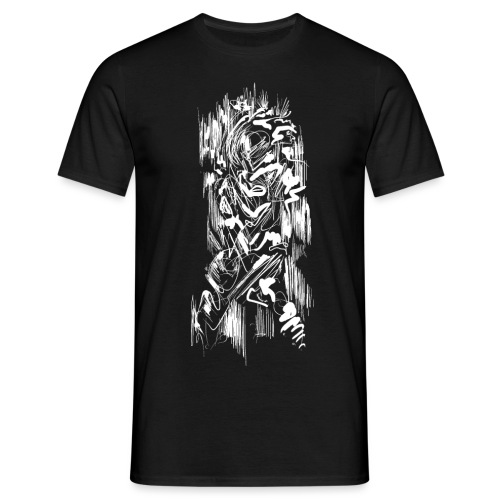 Samurai / White - Abstract Tatoo - Men's T-Shirt