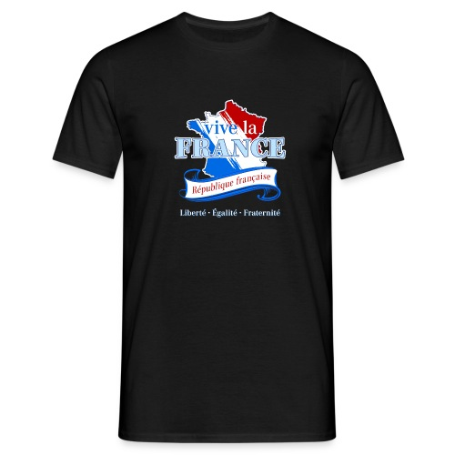 vive la France Frankreich République Française - Men's T-Shirt