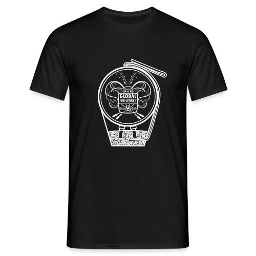 Global Feuerwerk Pyro Shell - Männer T-Shirt