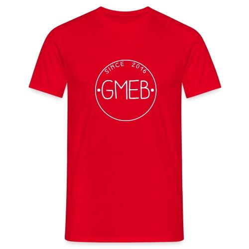 doorschijnend LOGO WIT - Mannen T-shirt