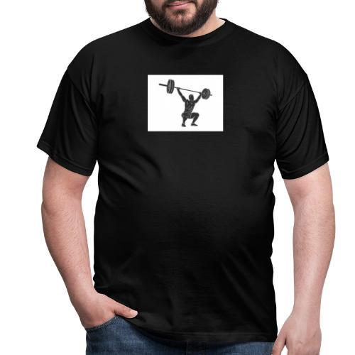 Gewichtheber aufdruck - Männer T-Shirt