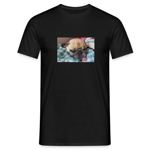 Hund med tungan ute - T-shirt herr