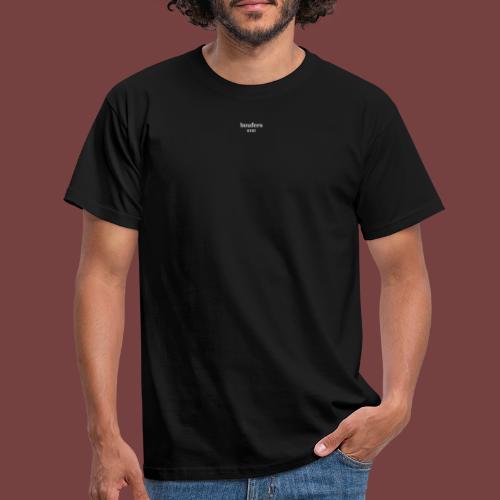 boufers hvit tekst - T-skjorte for menn