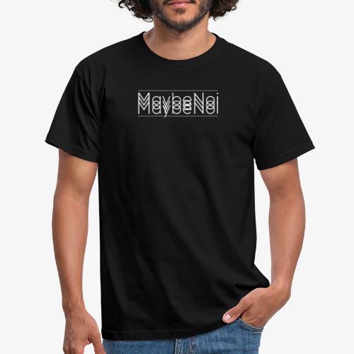 3MaybeNoi White - Männer T-Shirt