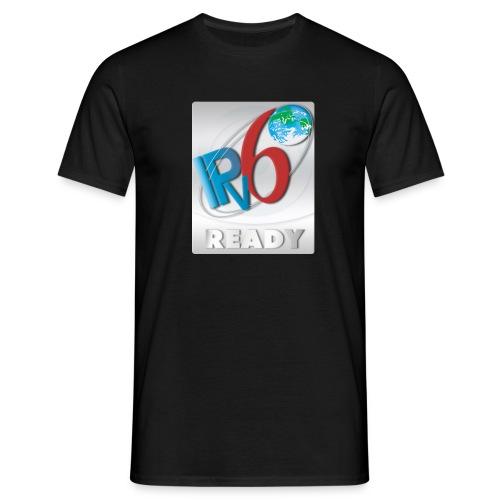 ipv6 ready logo silver - Men's T-Shirt