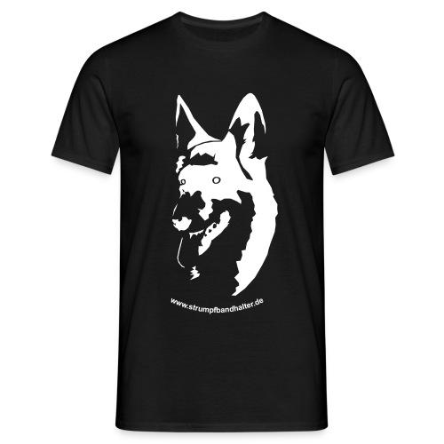 T-Shirt Hundekopf - brauner Aufdruck - Männer T-Shirt