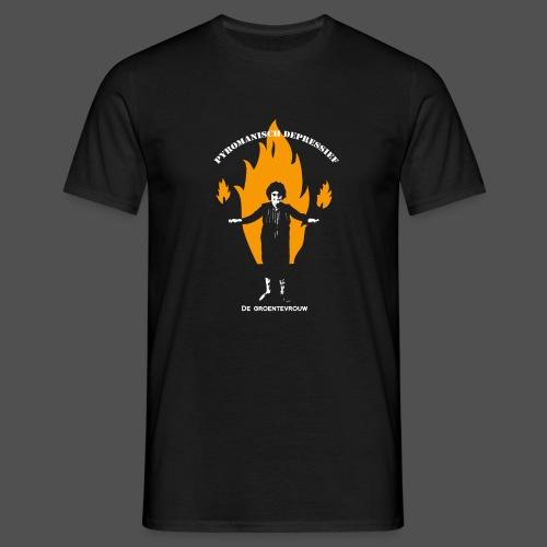Pyromanisch Depressief (v) - Mannen T-shirt