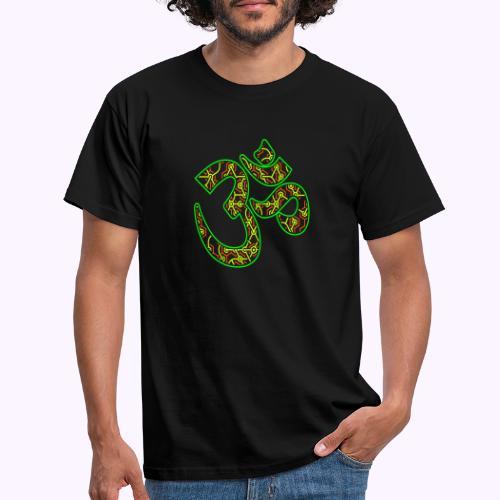 Fractal Om Neon - Miesten t-paita