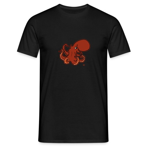 Giant Pacific Octopus (black edition) - T-shirt Homme