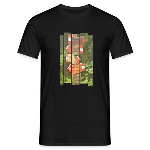 De verwarde hike - Mannen T-shirt