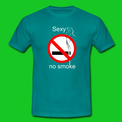 Sexy no smoke - Mannen T-shirt