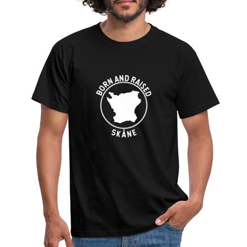 Skåne, Sverige - Född och Uppvuxen - T-shirt herr