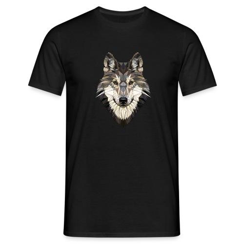 wolf, polygon design, unique - Men's T-Shirt