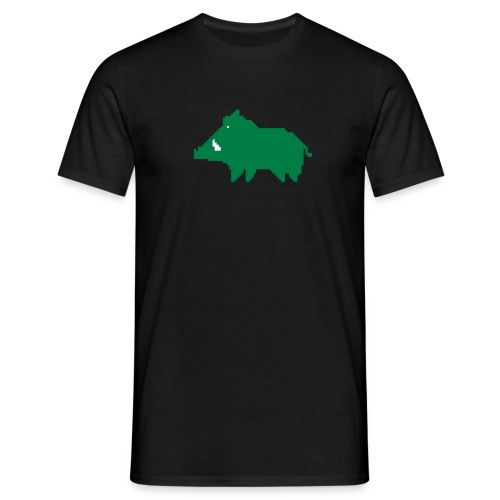 une ardeur d avance sanglier vert blanc - T-shirt Homme