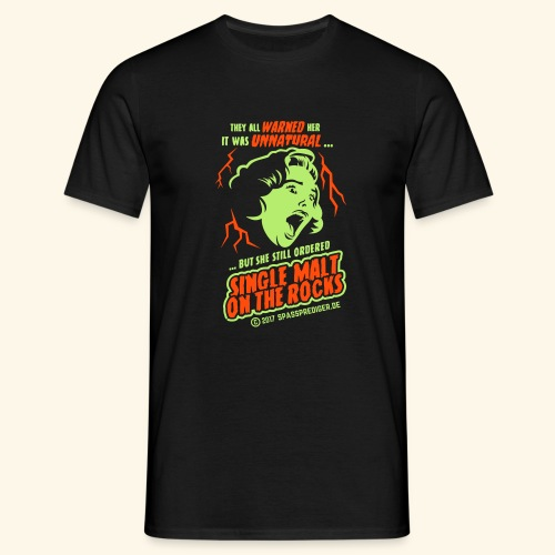 Single Malt on the Rocks - das Original - Männer T-Shirt