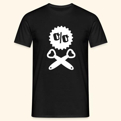 Bier T Shirt Design Piratenflagge - Männer T-Shirt