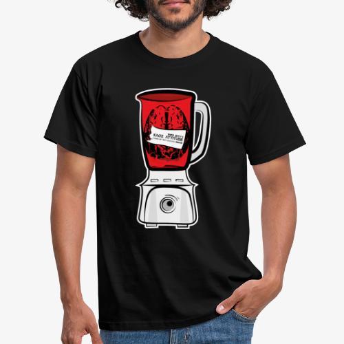 Hirn im Mixer - neon rot - Männer T-Shirt