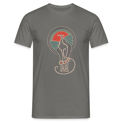 italian greyhound jugendstil 5 - Mannen T-shirt