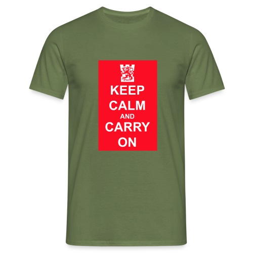 keep calm and carry on tornilogo copy - Miesten t-paita