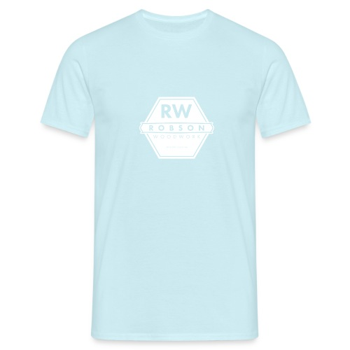 RW Logo In White - Men's T-Shirt