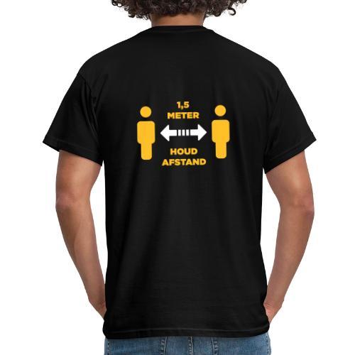 facet 1,5 meter afstand - Mannen T-shirt