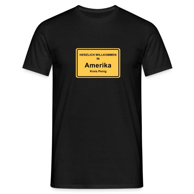 Ortsschild Amerika