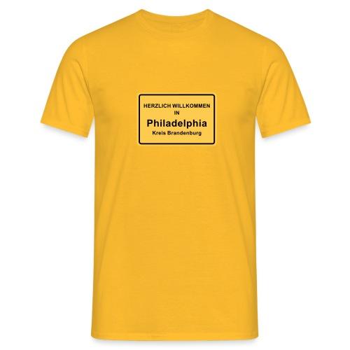 Ortsschild Philadelphia - Männer T-Shirt