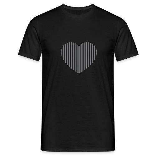 heart_striped.png - Men's T-Shirt