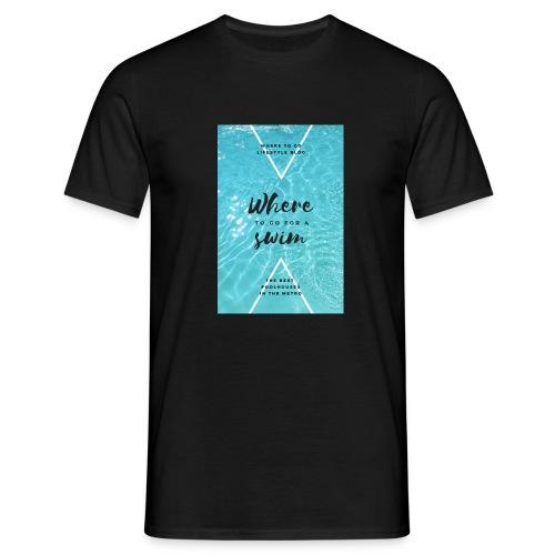 Schwimm design - Männer T-Shirt