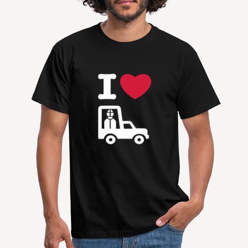 Papst im Auto - Men's T-Shirt