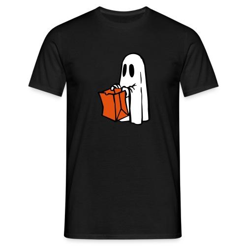 Geist mit Tüte 3farbig - Männer T-Shirt
