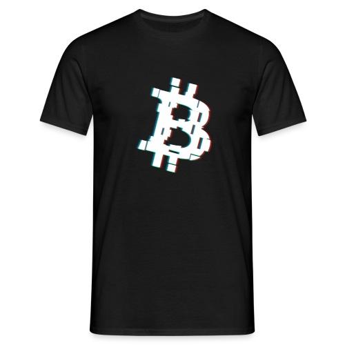 Glitched Bitcoin - Men's T-Shirt