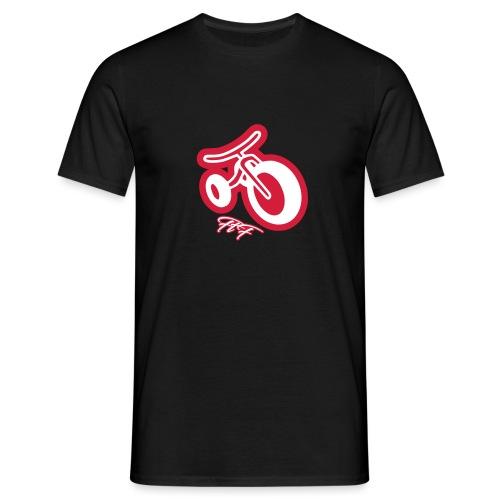 3cycle red white - Maglietta da uomo