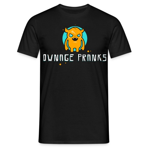 ownagepranks logo orange - Men's T-Shirt