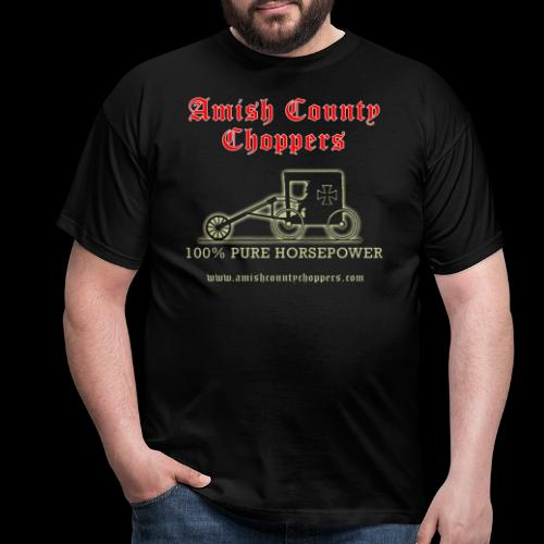Amish County Choppers Horsepower - Men's T-Shirt