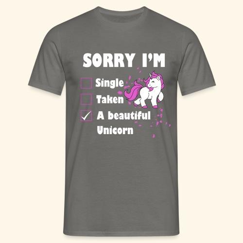 lustiges Beziehung Einhorn T-Shirt - Männer T-Shirt