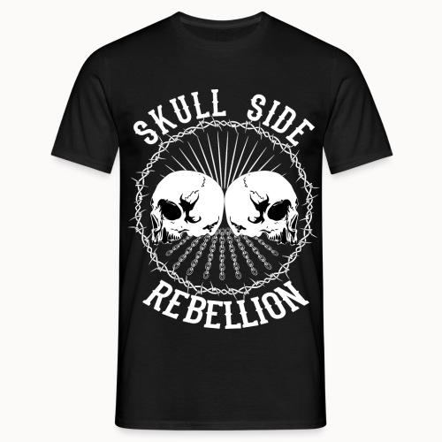 Skull side rebellion - Männer T-Shirt