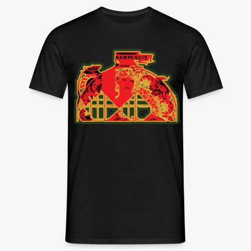 Borduur Art Nouveau Dubbel 1 2 - Mannen T-shirt