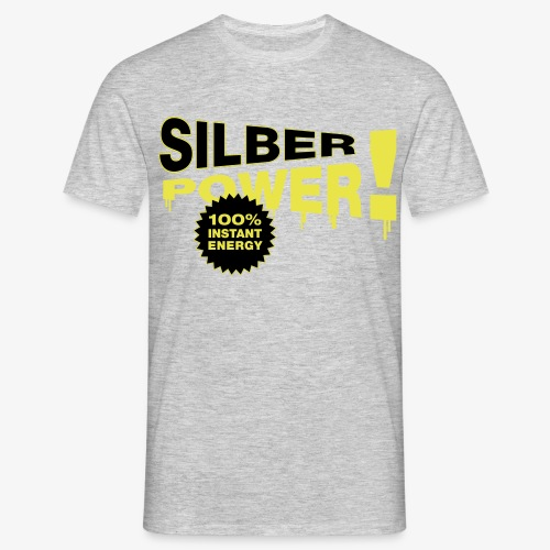 SilberPower! - Herre-T-shirt