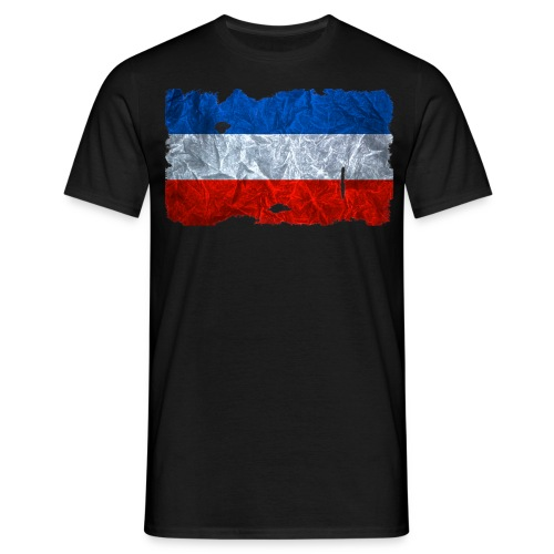 Schleswig-Holstein Fahne / Flagge vintage usedlook - Männer T-Shirt