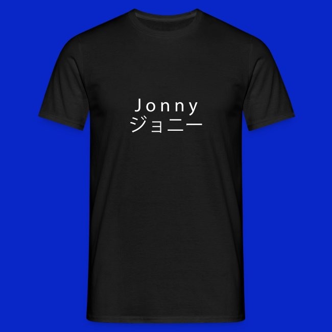 J o n n y (white on black)