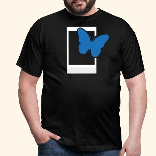 Sofortbild Fotografie - Blauer Schmetterling 2 - Männer T-Shirt