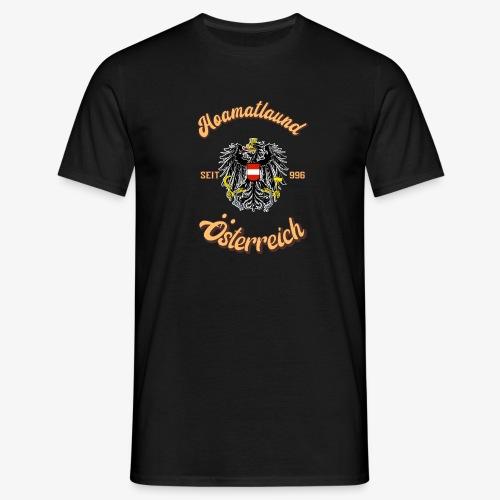 Österreich hoamatlaund retro desígn - Männer T-Shirt