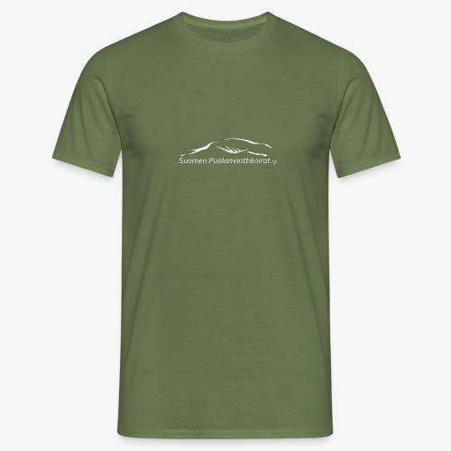 SUP logo valkea - Miesten t-paita