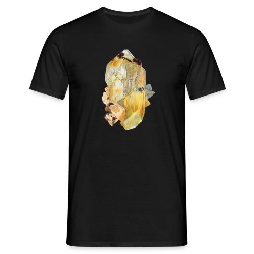 Bergkristall mit Granat - Männer T-Shirt